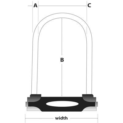 Master Lock U-Schloss mit Stahlbügel 11 cm 8195EURDPRO