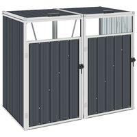vidaXL Mülltonnenbox für 2 Mülltonnen Anthrazit 143×81×121 cm Stahl