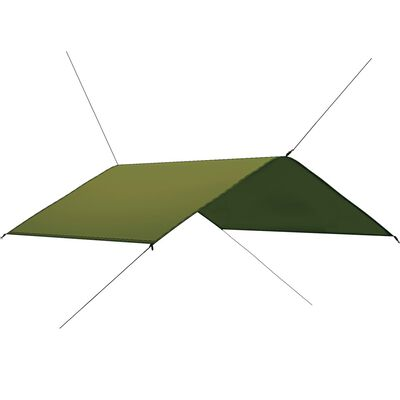 vidaXL Outdoor Tarp 4x4 m Grün