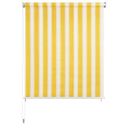 vidaXL Außenrollo 220 x 230 cm Gelb und Weiß Gestreift
