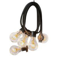 KONSTSMIDE Party-Lichterkette mit 10 Lampen Gummi Extra-Warm
