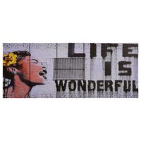 vidaXL Leinwandbild-Set Wonderful Mehrfarbig 200×80 cm