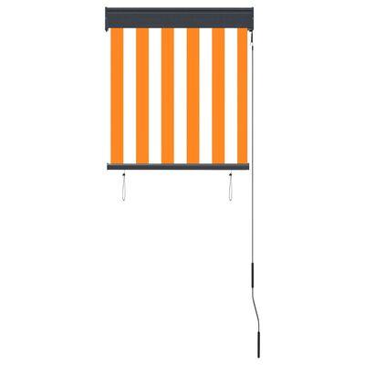 vidaXL Außenrollo 60 x 250 cm Weiß und Orange