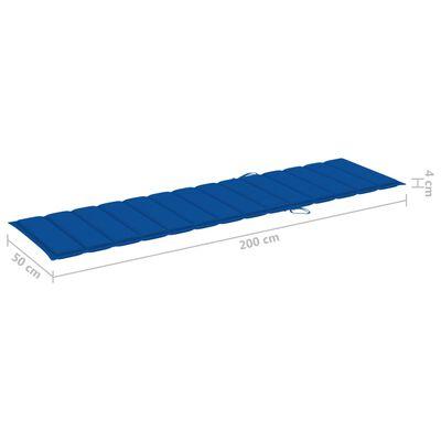 vidaXL Sonnenliegen-Auflage Königsblau 200x50x4 cm Stoff