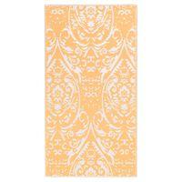 vidaXL Outdoor-Teppich Orange und Weiß 190x290 cm PP