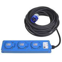 ProPlus Schuko-Steckdose 3-Wege 20 m 2 USB