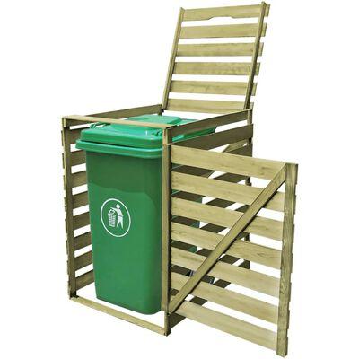 vidaXL Mülltonnenbox für 1 Tonne 240 L Imprägniertes Holz