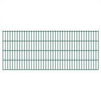 vidaXL 2D Gartenzaun-Elemente 2,008x0,83 m Gesamtlänge 16 m Grün