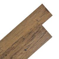 vidaXL PVC Laminat Dielen Selbstklebend 5,02 m² 2 mm Walnuss-Braun