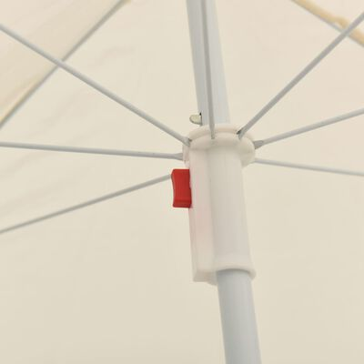 vidaXL Sonnenschirm mit Stahlmast Sandfarben 180 cm
