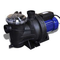 Schwimmbadpumpe Umwälzpumpe Poolpumpe Pumpe elektronik blau 800W