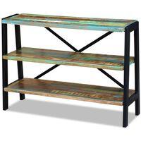vidaXL Sideboard 3 Regalböden Altholz