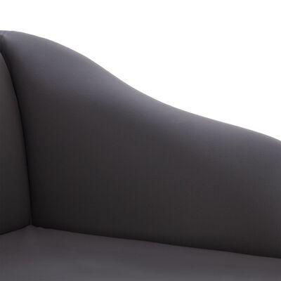 vidaXL Chaiselongue Grau Kunstleder