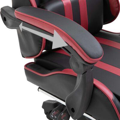 vidaXL Gaming-Stuhl mit Fußstütze Weinrot Kunstleder