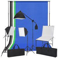 vidaXL Fotostudio-Set mit Aufnahmetisch, Lichtern und Hintergründen