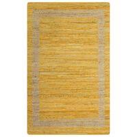 vidaXL Teppich Handgefertigt Jute Gelb 160x230 cm