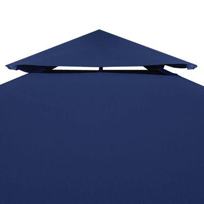 vidaXL Pavillon-Ersatzdach 310 g/m² Dunkelblau 3x3 m