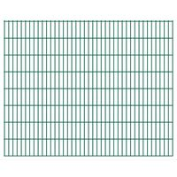 vidaXL 2D Gartenzaun-Elemente 2,008x1,63 m Gesamtlänge 4 m Grün