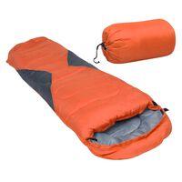 vidaXL Leichter Mumienschlafsack für Kinder Orange 670g 10°C