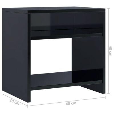 vidaXL Nachttisch Hochglanz-Schwarz 40 x 30 x 40 cm Spanplatte