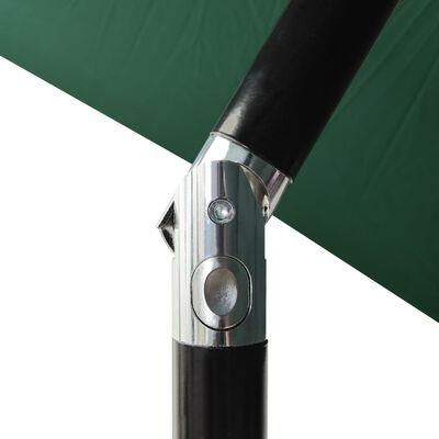 vidaXL Sonnenschirm mit Aluminium-Mast 3-lagig Grün 2 m