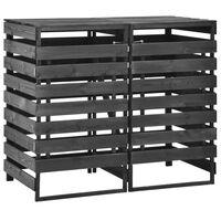 vidaXL Mülltonnenbox für 2 Tonnen 140x75x121 cm Kiefer Massivholz