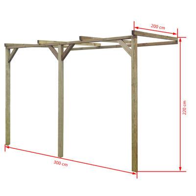 vidaXL Terrassen-Pergola 2x3x2,2 m Holz