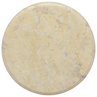 vidaXL Tischplatte Creme Ø40x2,5 cm Marmor
