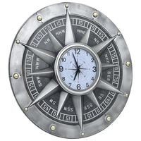 vidaXL Wanduhr Silbern 79 cm MDF und Metall