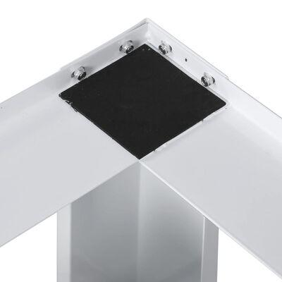 vidaXL Doppeluntergestell für Wasch- und Trockenmaschine Weiß