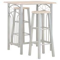 vidaXL 3-tlg. Bar-Set Holz und Stahl