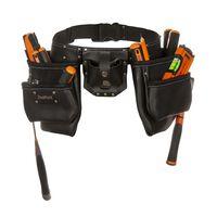 Toolpack Werkzeuggürtel 2 Taschen Leder Industrial 366.000