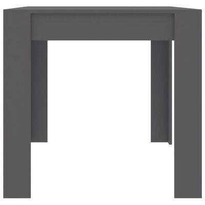 vidaXL Esstisch Grau 160x80x76 cm Spanplatte