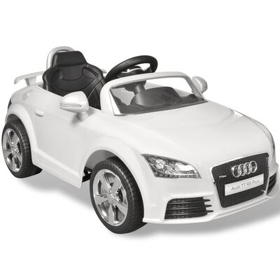 Audi TT RS Aufsitz-Auto für Kinder mit Fernsteuerung Weiß