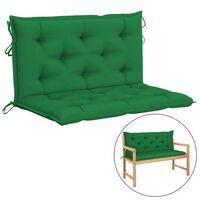 vidaXL Auflage für Hollywoodschaukel Grün 100 cm Stoff