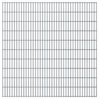 vidaXL 2D Gartenzaun-Elemente 2,008x2,03 m Gesamtlänge 4 m Grau