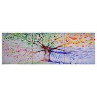 vidaXL Leinwandbild-Set Baum Mehrfarbig 120 x 40 cm
