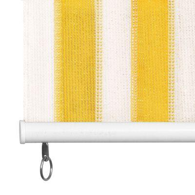 vidaXL Außenrollo 160 x 230 cm Gelb und Weiß Gestreift