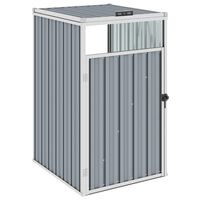 vidaXL Mülltonnenbox Grau 72×81×121 cm Stahl
