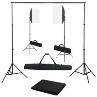 vidaXL Fotostudio-Set mit Softbox-Leuchten und Hintergrund