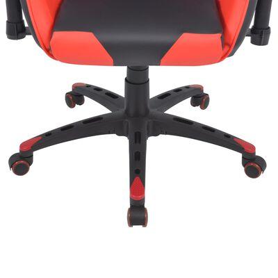 vidaXL Bürostuhl Gaming-Stuhl Neigbar Kunstleder Rot