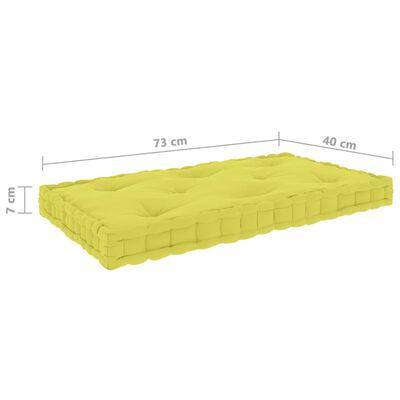 vidaXL Paletten-Bodenkissen Apfelgrün 73x40x7 cm Baumwolle