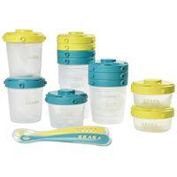 Beaba Lebensmittelbehälter Set 1st Meal Set Grün und Blau