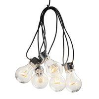 KONSTSMIDE Party-Lichterkette mit 5 Klaren Lampen Extra-Warm