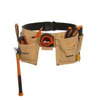 Toolpack Werkzeuggürtel mit 2 Taschen Hobby Leder 366.020