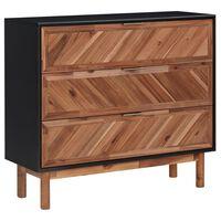 vidaXL Sideboard 90x33,5x80 cm Akazie Massivholz und MDF