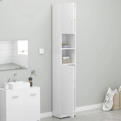 vidaXL Badezimmerschrank Weiß 32×25,5×190 cm Spanplatte