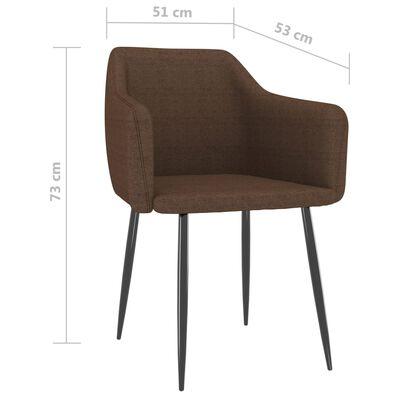 vidaXL Esszimmerstühle 4 Stk. Braun Stoff