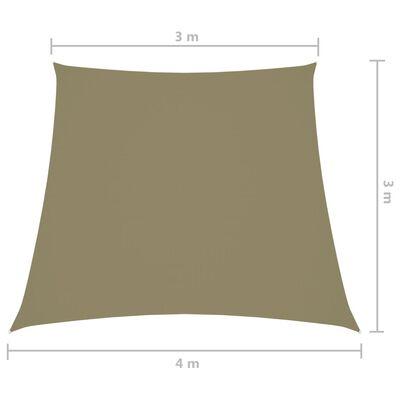 vidaXL Sonnensegel Oxford-Gewebe Trapezförmig 3/4x3 m Beige
