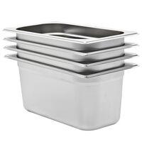 vidaXL Gastronormbehälter 4 Stk. GN 1/3 150 mm Edelstahl
